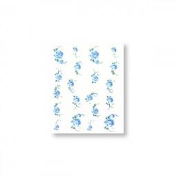 Water Decals Sticker - Rose Blau