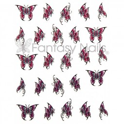 Water Decals Sticker - Schmetterling Rosa