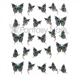 Water Decals Sticker - Schmetterling Blau