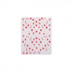 3D Nail Stickers – Herzen Rot/Weiss