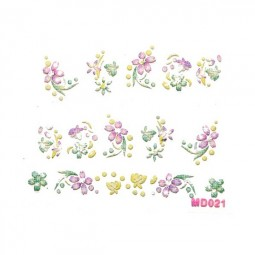 3D Nail Stickers – Blumen Violett