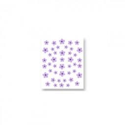 3D Nail Stickers – Sommerblumen Violett