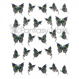 Water Decals Sticker - Schmetterling Blau